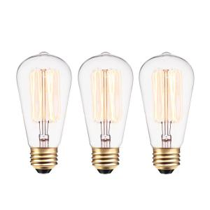 1ab0932b69f 40-Watt Vintage Edison S60 Squirrel Cage E26 Incandescent Filament Light  Bulb - Antique Edison