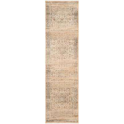 Vintage Warm Beige 2 ft. x 10 ft. Runner Rug