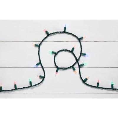 100-Light Warm White to multicolor LED Smooth Mini Light String (2-Function)
