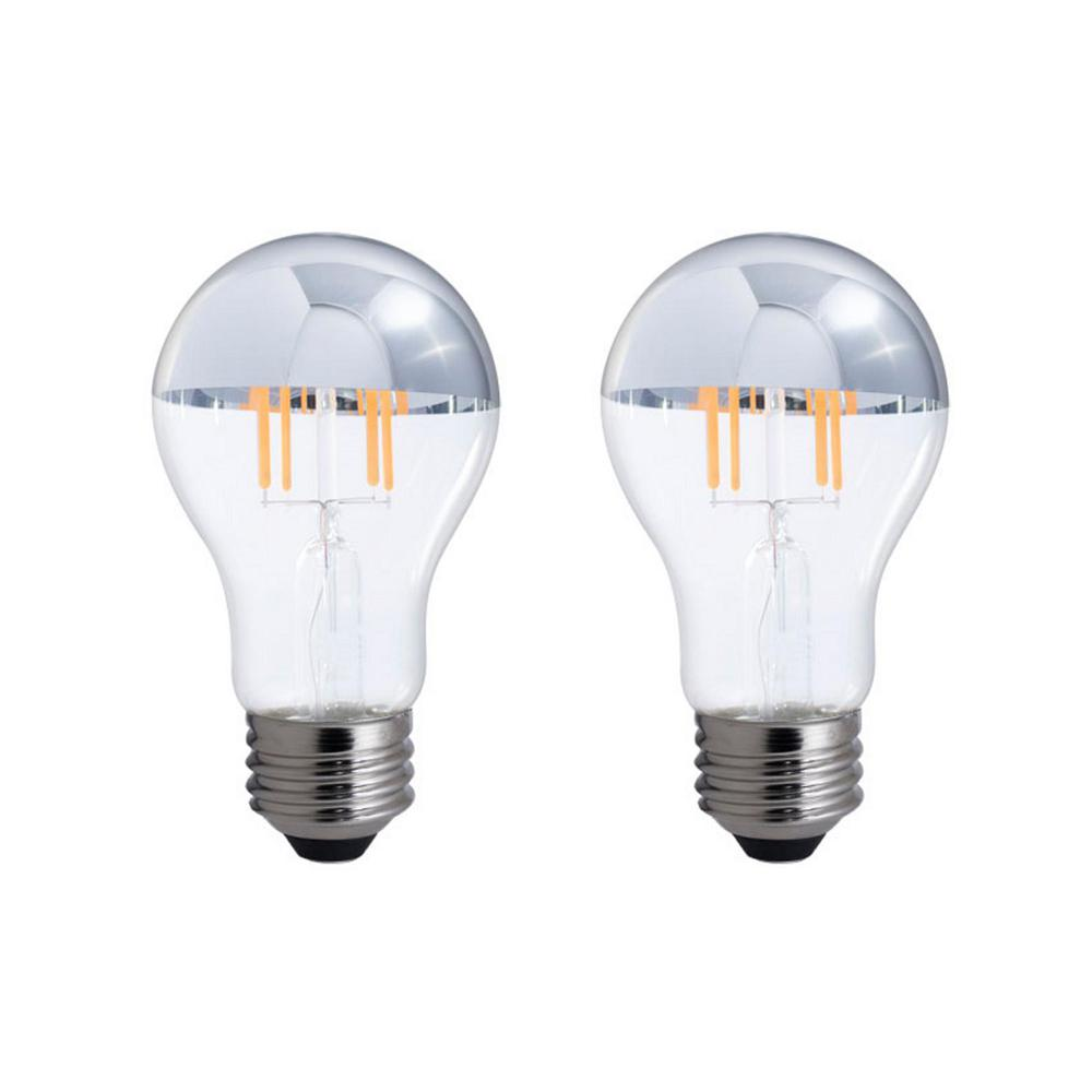 40W Equivalent Warm White Light A19 Dimmable LED Half Chrome Light
