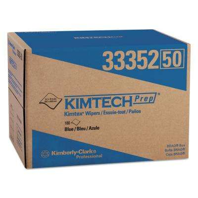 12 1/10 x 16 4/5 KIMTEX Wipers, BRAG Box, Blue, 180 per Box