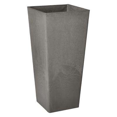 Contempo Tall Square 13 in. x 13 in. x 28 in. Cement PSW Pot