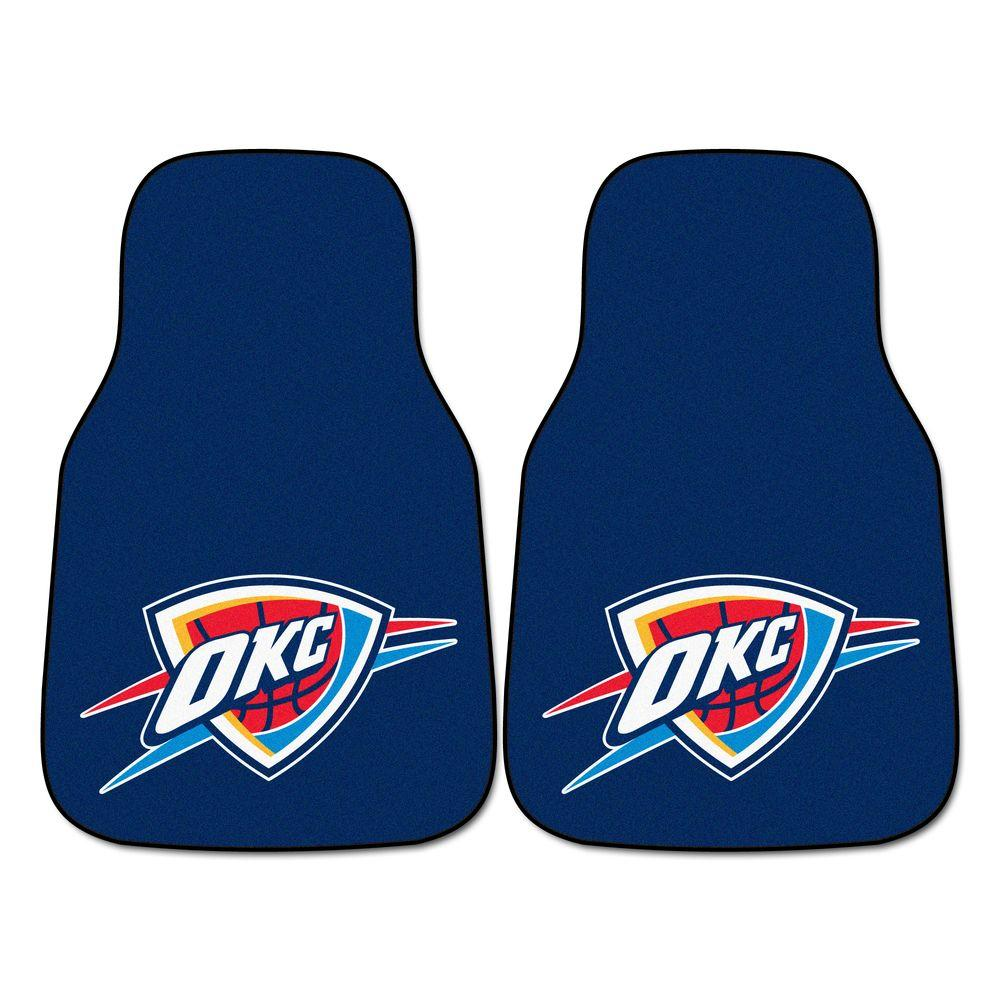 Fanmats oklahoma city thunder 18 in x 27 in 2 piece for Parquet mat ou satine