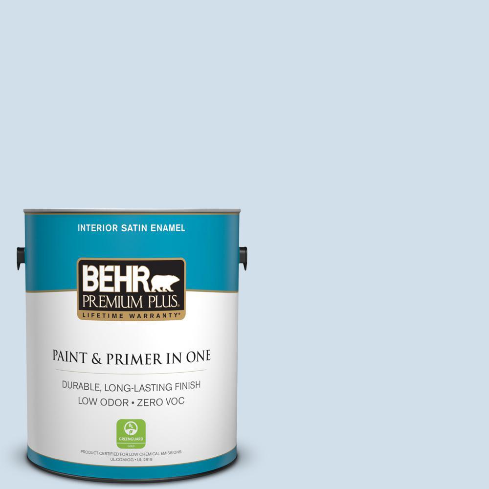 BEHR Premium Plus 1-gal. #M530-1 Ice Drop Satin Enamel Interior Paint