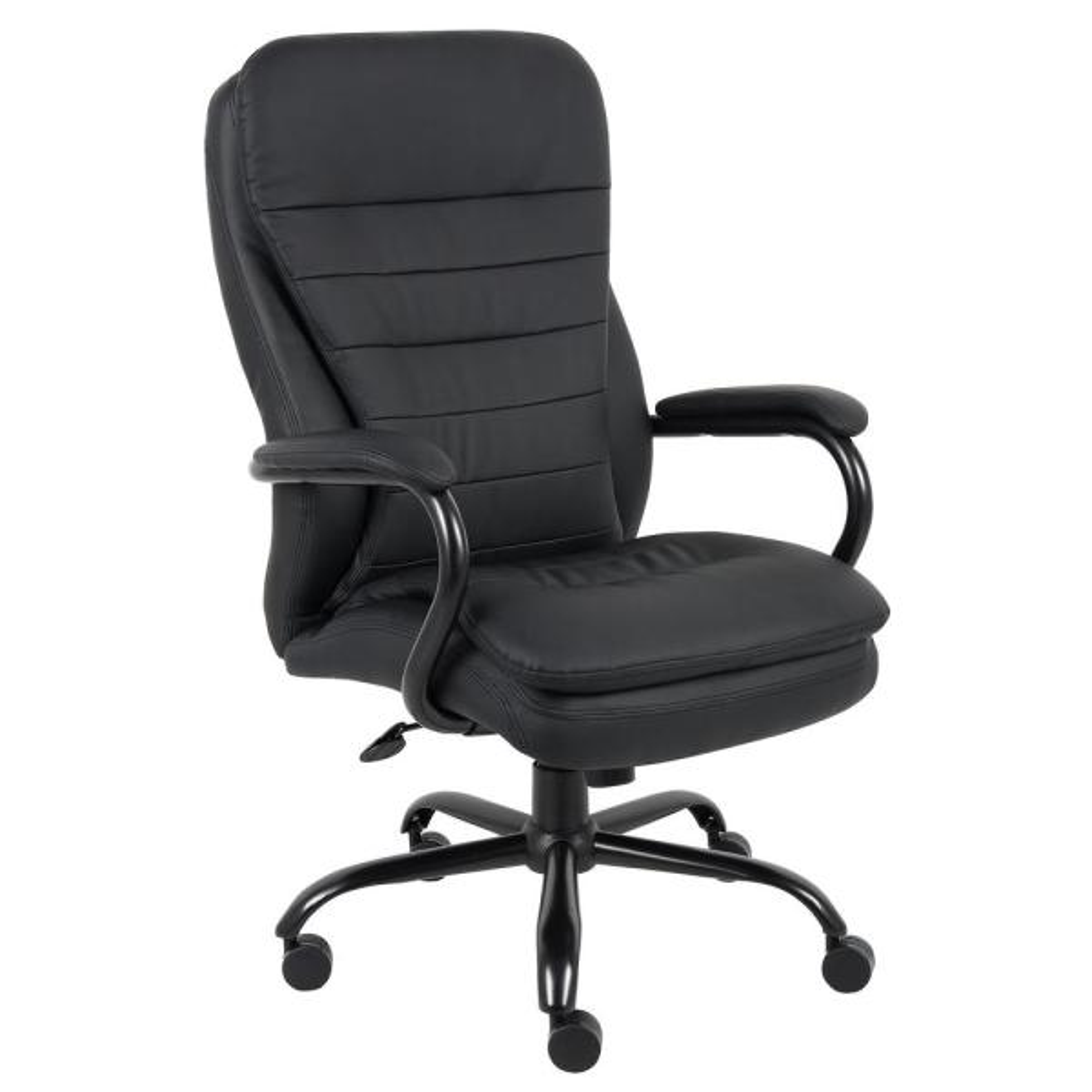 Black Heavy Duty Double Plush Chair