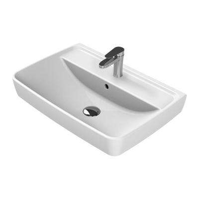 Duru Wall Mounted Bathroom Sink in White