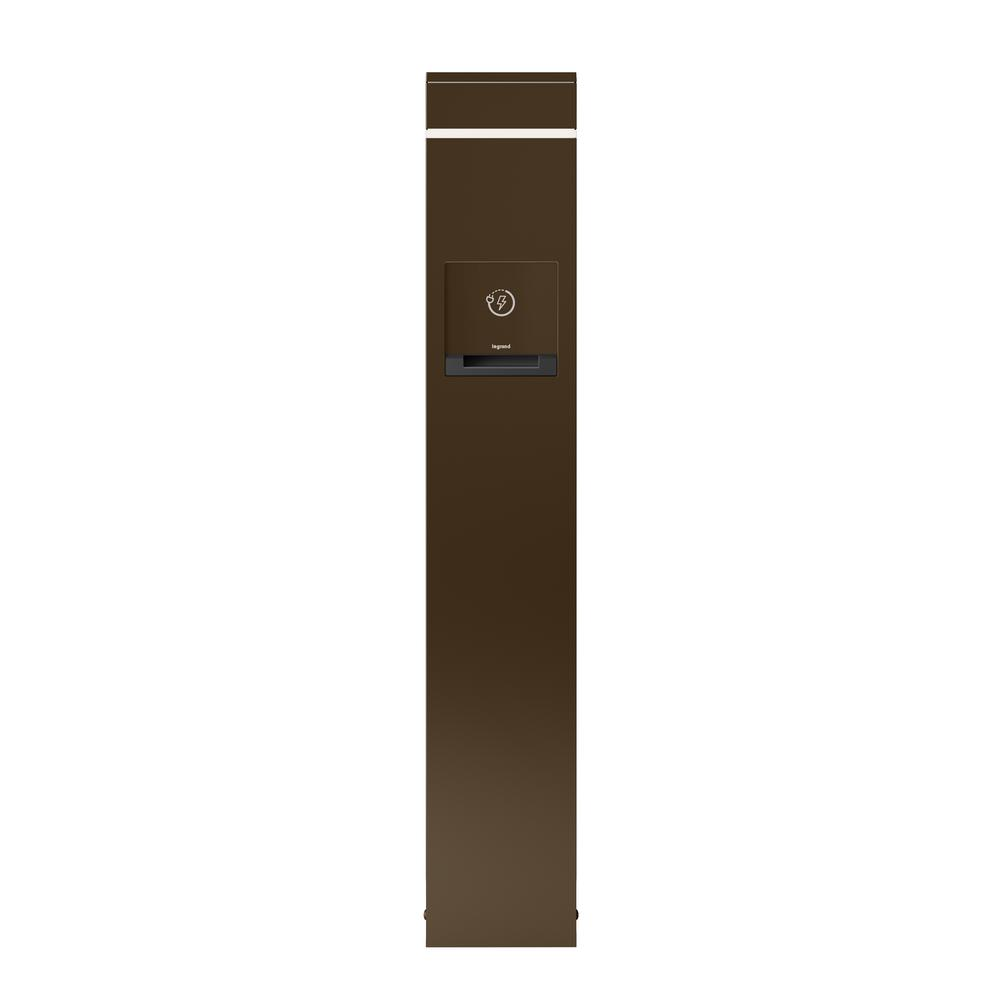 Outdoor 2-Gang GFCI Charging Station with USB, Bronze