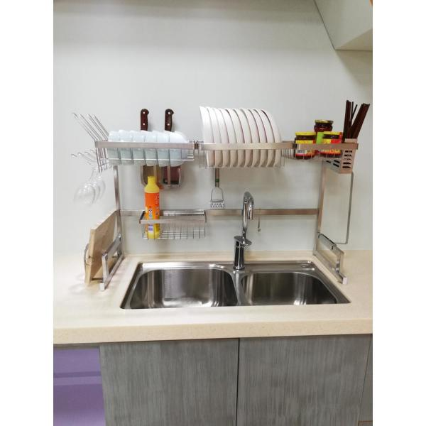 Avery 34.6 in. Stainless Steel Standing Dish Rack