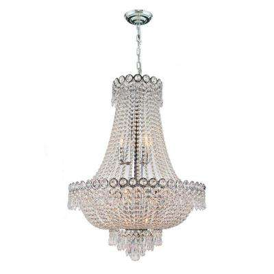 Empire 12-Light Polished Chrome Crystal Chandelier