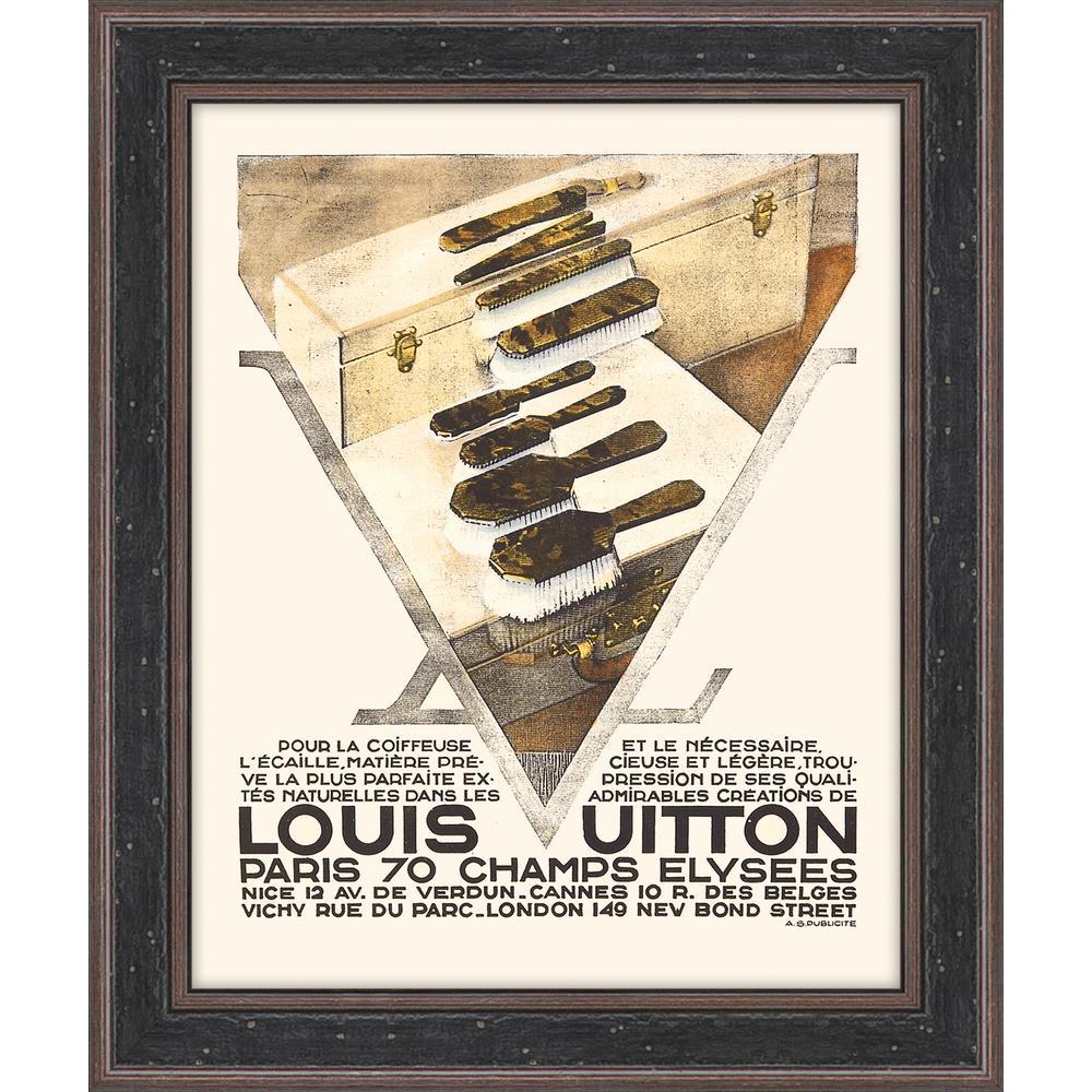 "15.5 in. x 18.5 in. ""Louis Vuitton II"" Framed Giclee Print Wall Art"