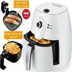 3.2 Qt. White Electric Air Fryer with Timer Adjustable Temperature Controls, Includes Fry Basket and Pan (FAM21302W)
