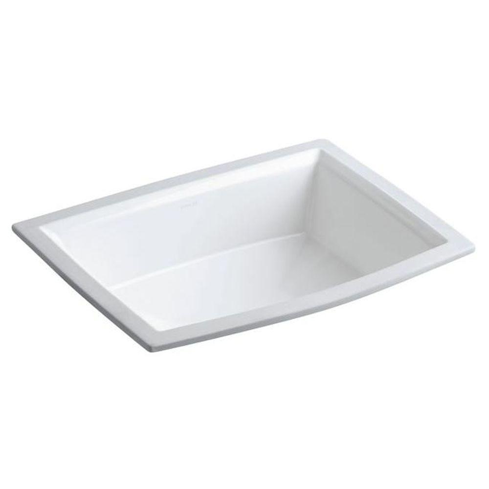 Kohler Archer Under Mounted Bathroom Sink In White K R2355 0 The