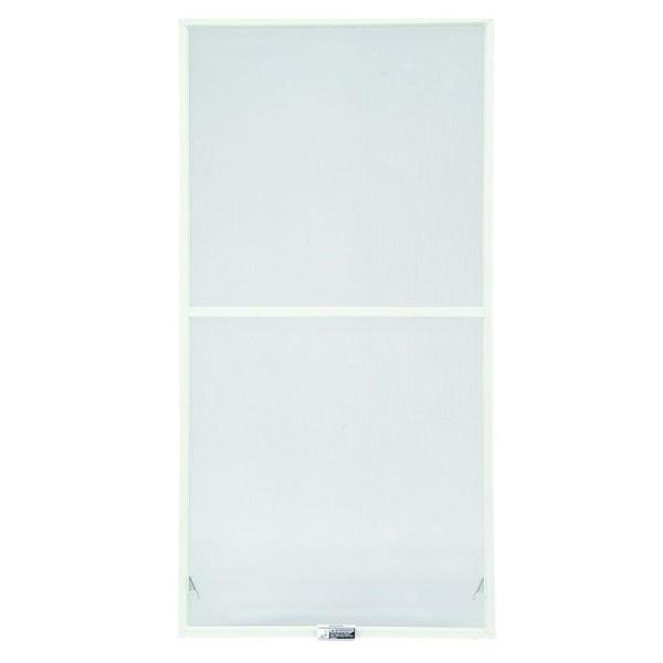 400-Series 35-7/8 in. x 34-27/32 in., White Aluminum Insect Screen Double-Hung Windows