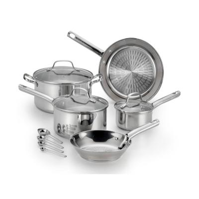 Performa 12-Piece Stainless Steel Cookware Set with Glass Lids
