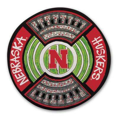 Nebraska Football Stadium Melamine Platter