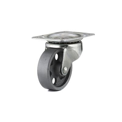 4-1/32 in. Metal Swivel Without Brake plate Caster, 247 lb. Load Rating