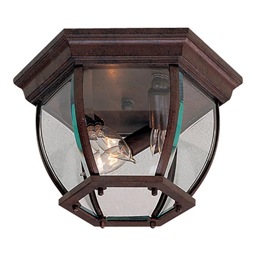Wyndmere Antique Bronze 3-Light Outdoor Flush Mount
