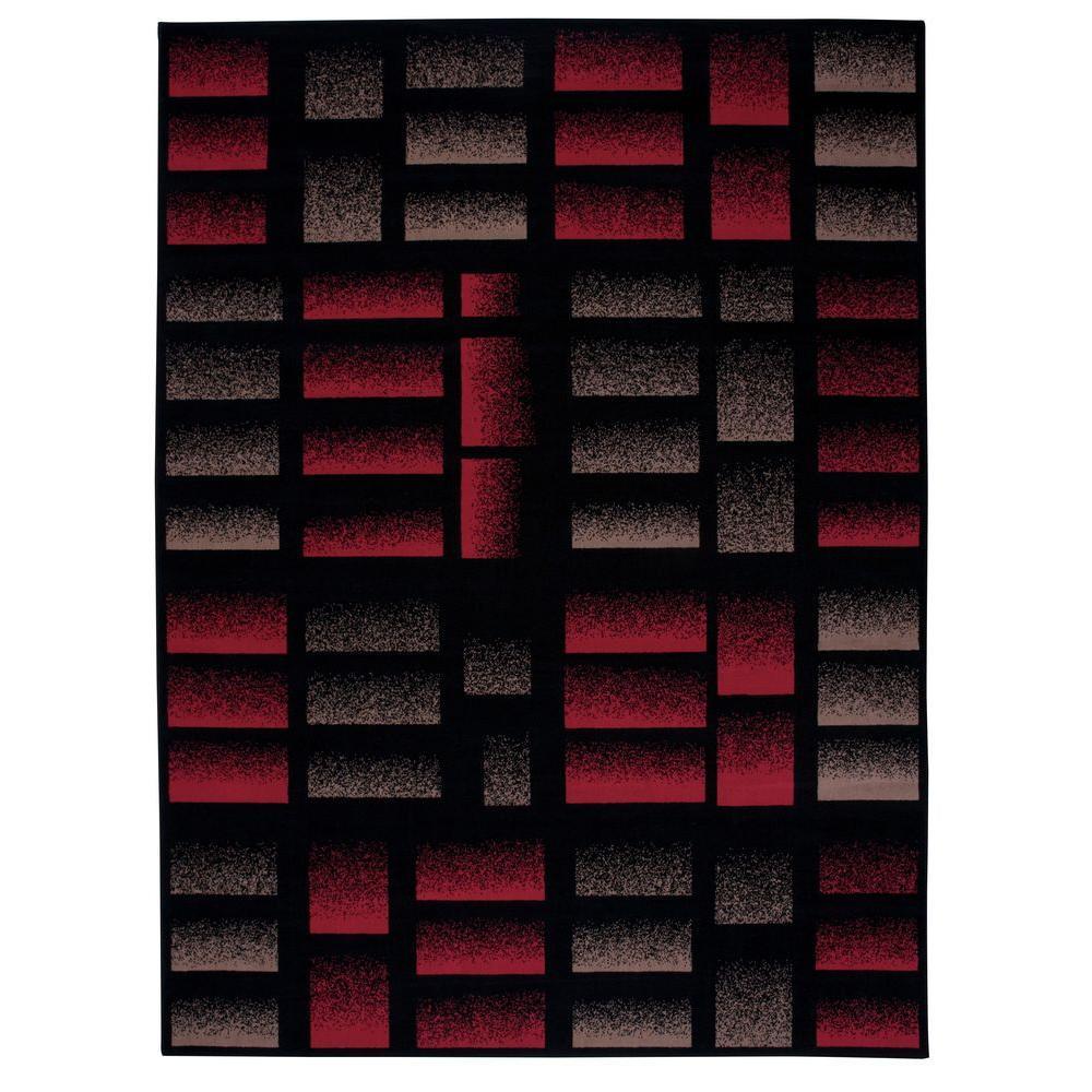 Modesto Brick Black 7 ft. 10 in. x 10 ft. 6