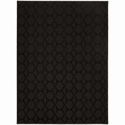 Sparta Black 8 ft. x 10 ft. Area Rug