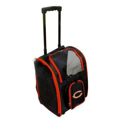 NFL Chicago Bears Pet Carrier Premium Bag with wheels in Orange