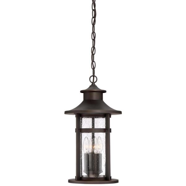 Highland Ridge Collection Oil Rubbed Bronze with Gold Highlights Finish Outdoor 3-Light Hanging Lantern