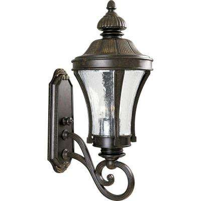 Nottington Collection 3-Light 24.5 in. Outdoor Forged Bronze Wall Lantern