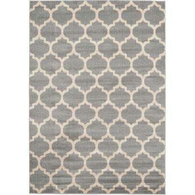 Brosious Gray Ivory Gray 5 ft. 3 in. x 7 ft. 10 in. Rectangular Area Rug