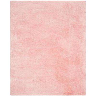 arctic shag pink 8 ft x 10 ft area rug