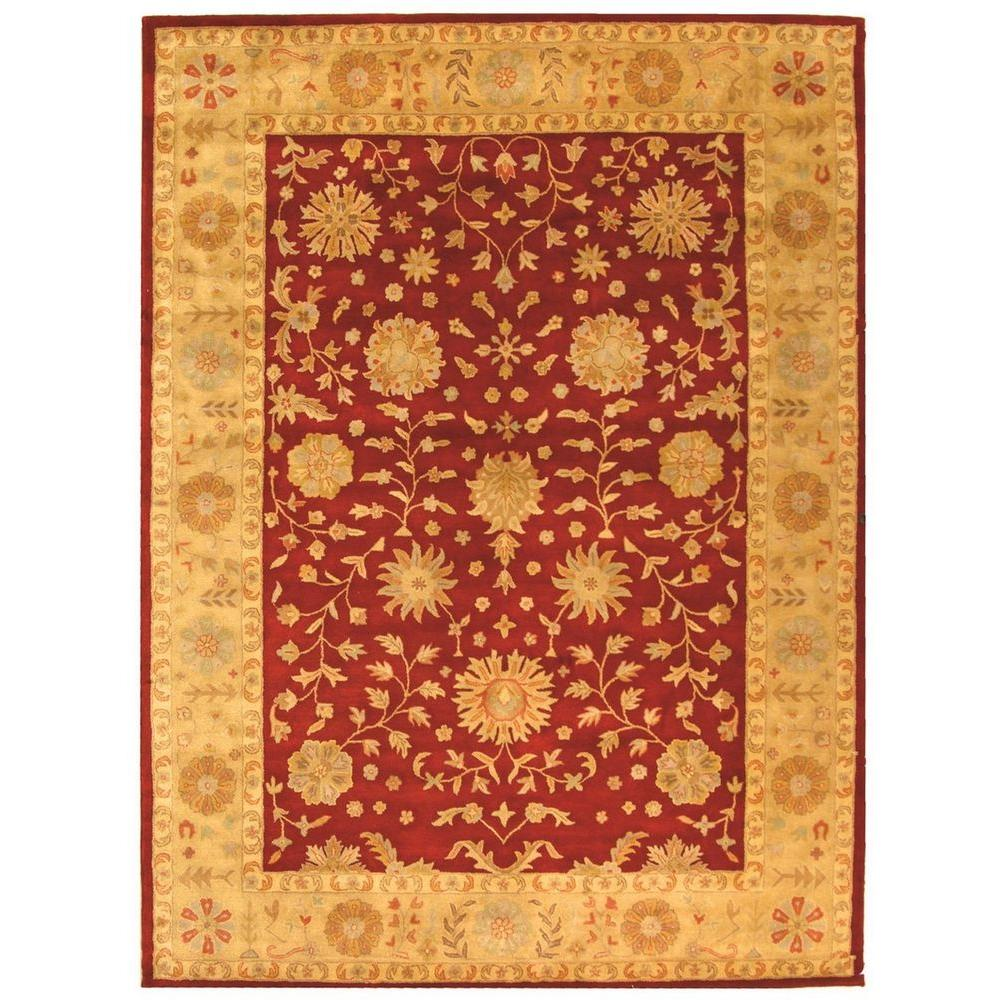 Safavieh heritage red gold 8 ft 3 in x 11 ft area rug for Red and gold area rugs