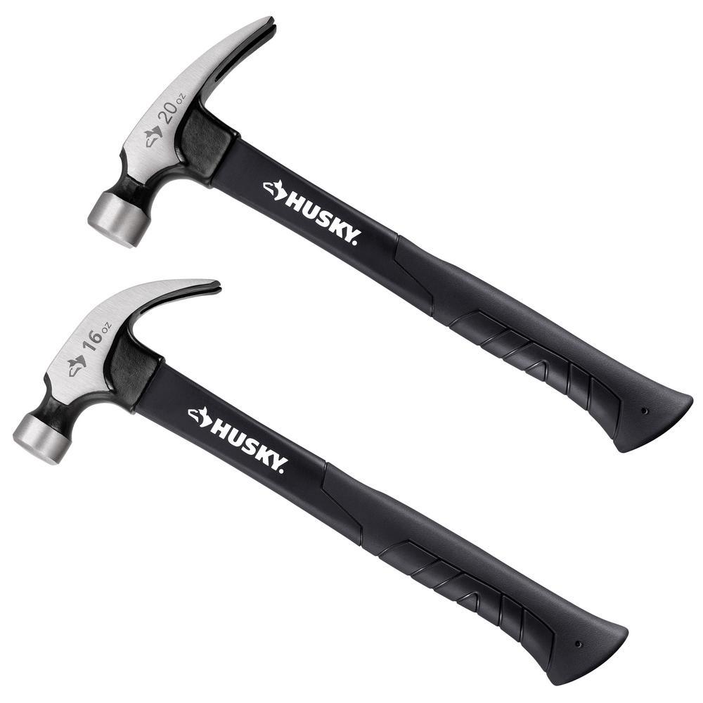 Husky Husky 16 oz. Fiberglass Claw and 20 oz. Fiberglass Rip Hammer Set