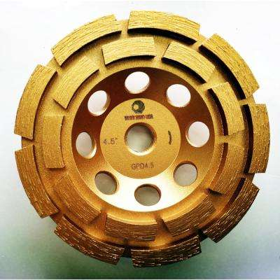 4.5 in. Double Row Diamond Grinding Cup Wheel for Concrete and Mortar
