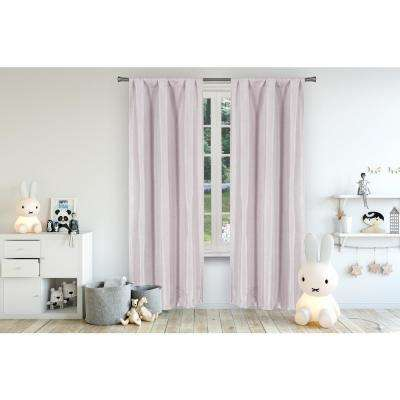 Miranda 37 in. x 96 in. L Polyester Blackout Curtain Panel in Lavender (2-Pack)