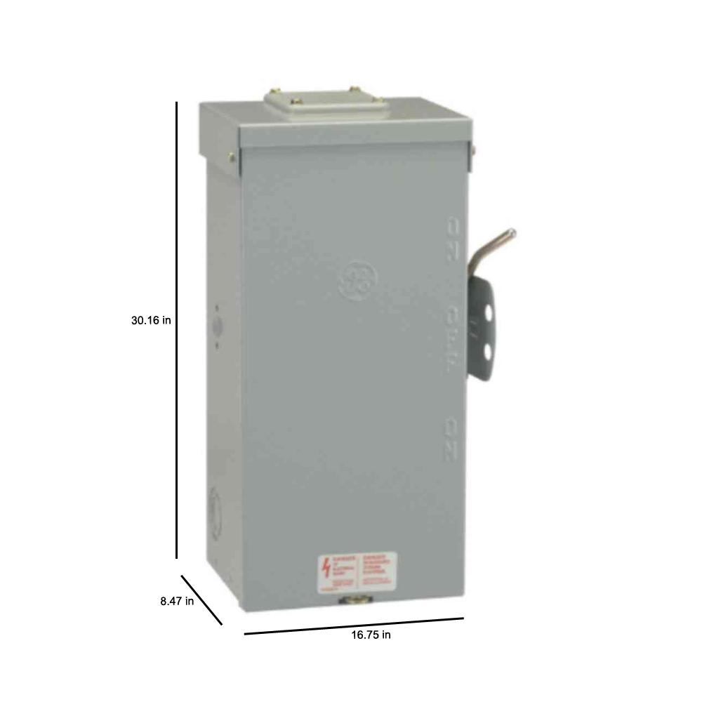 Ge 200 Amp 240 Volt Non Fused Emergency Power Transfer Switch