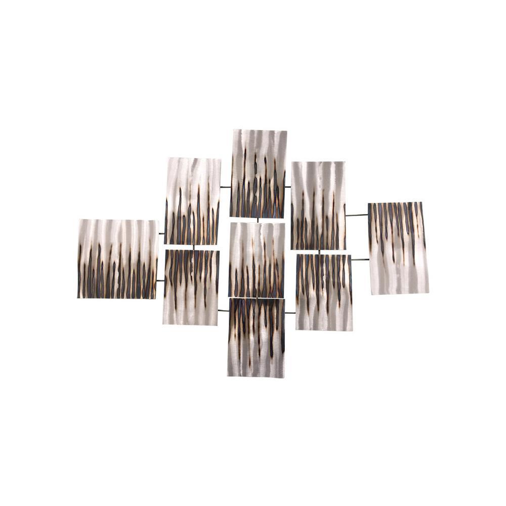 42.1 in. x 29.9 in. x 2.4 in. August Metal Wall Art