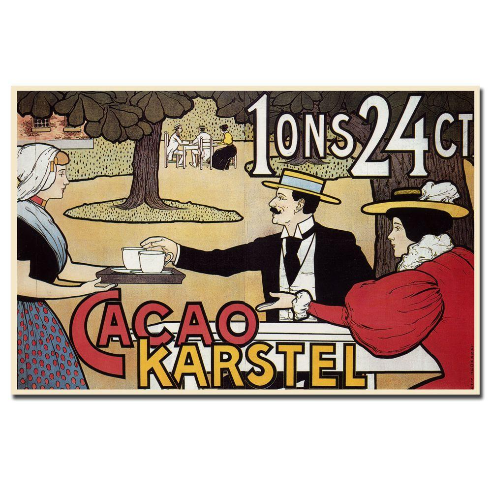 null 24 in. x 18 in. Cacao Karstel Canvas Art