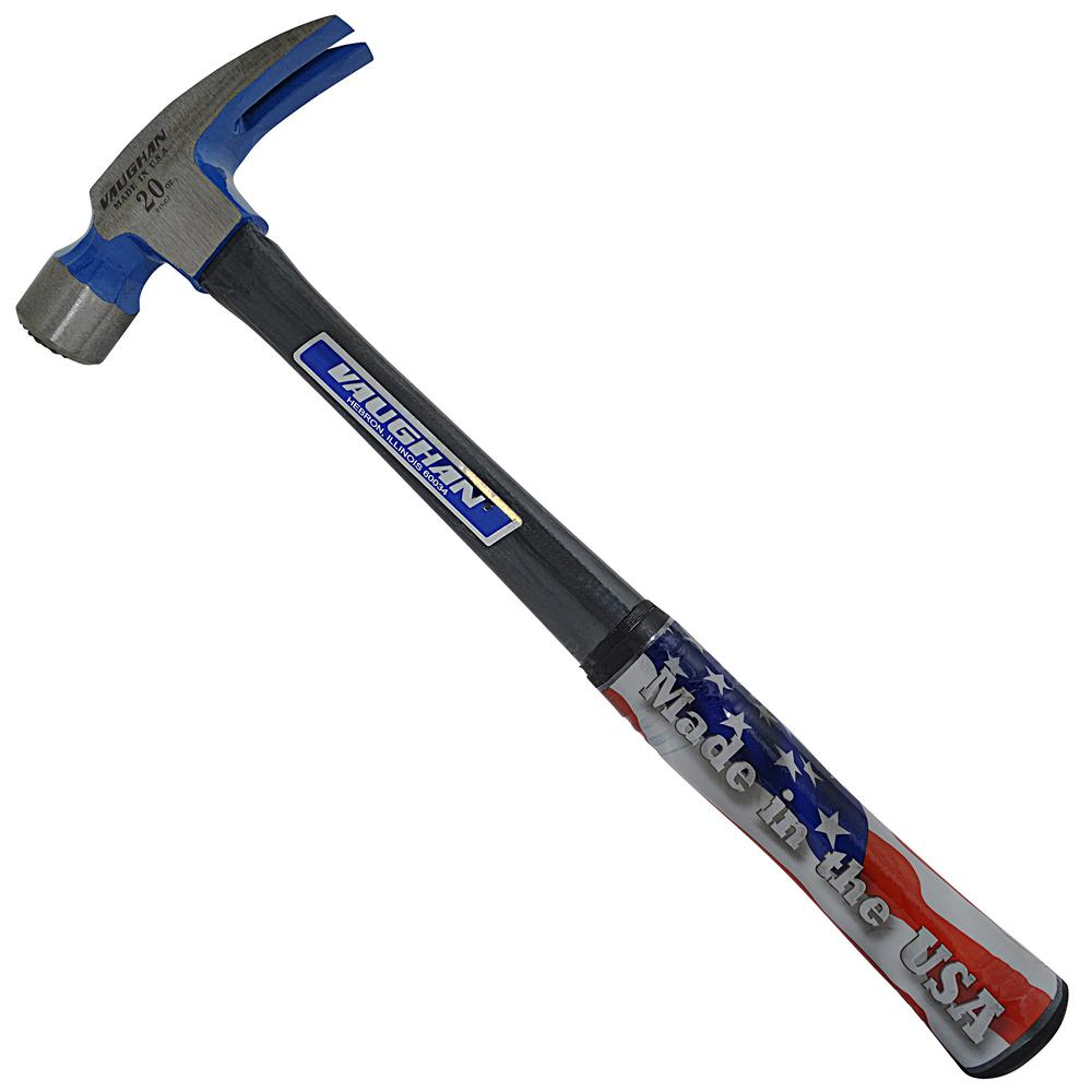 Vaughan 20 oz. Milled Face Fiberglass Rip Hammer, 16 in. fiberglass handle