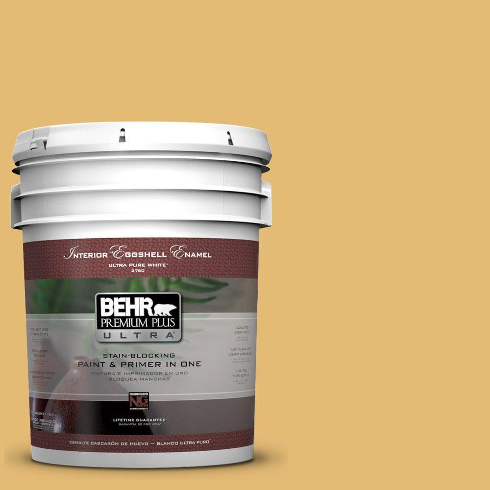 BEHR Premium Plus Ultra 5-gal. #PMD-96 Wild Wheat Eggshell Enamel Interior Paint