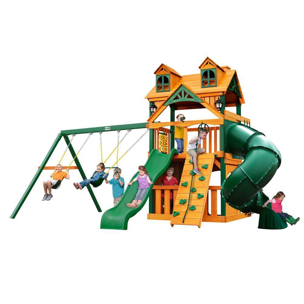 Gorilla Playsets Malibu Extreme Clubhouse Cedar Swing