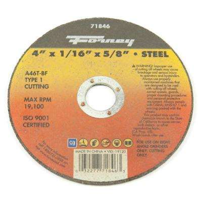 4 in. x 1/16 in. x 5/8 in. Metal Type 1 Cut-Off Wheel