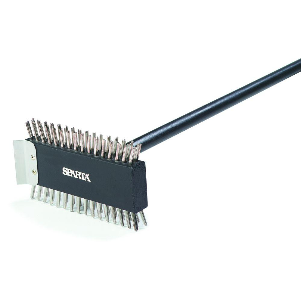 Carlisle 3-1/2 in. Stainless Steel Bristles Broiler Master Brush (6-Pack)