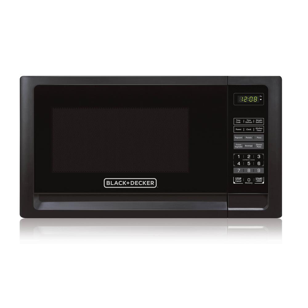 1.1 cu. ft. Countertop Digital Microwave in Black
