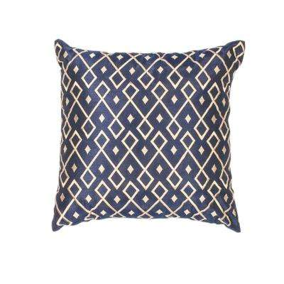 Sweet Diamonds Gold/Navy Decorative Pillow