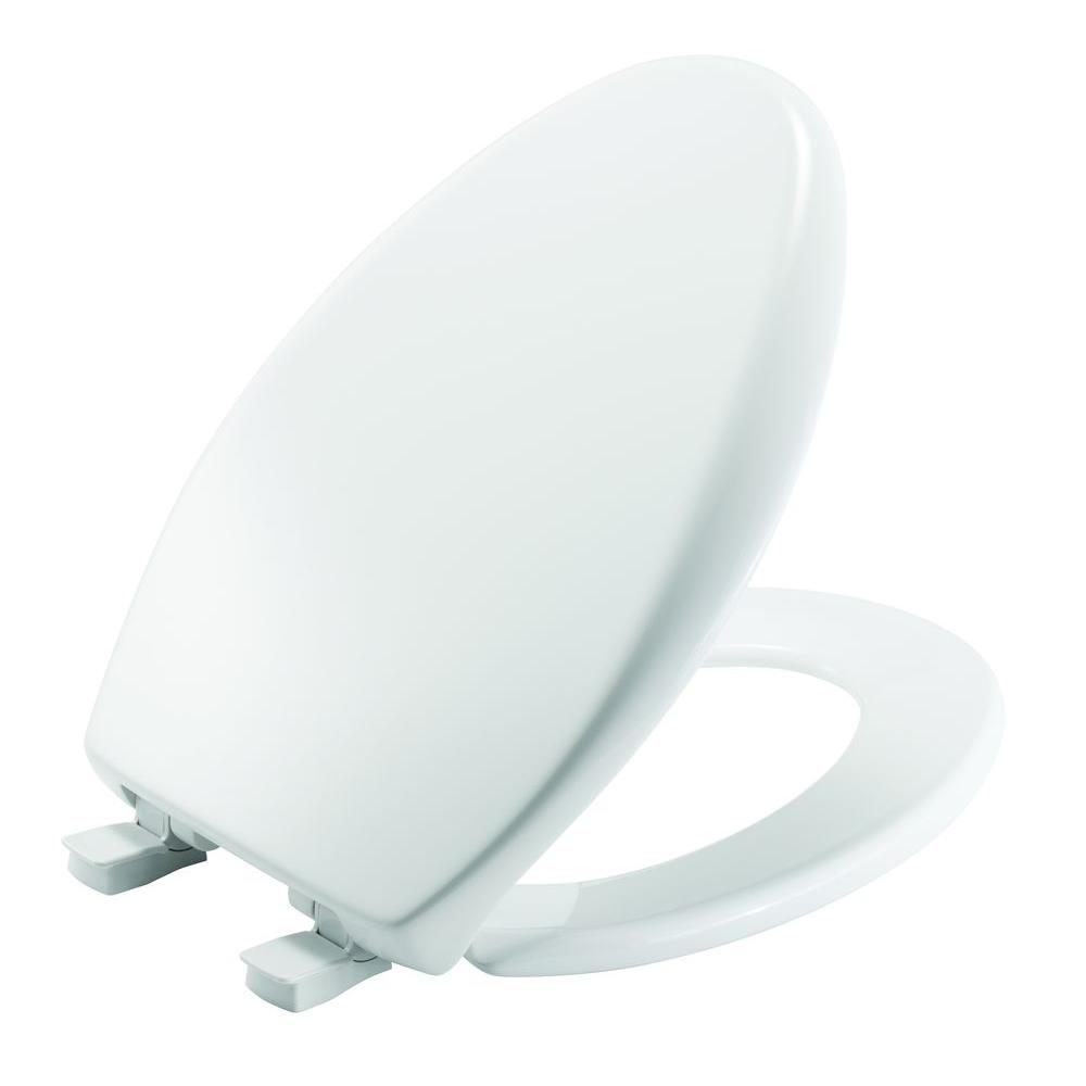 Affinity Elongated Closed Front Toilet Seat in Cotton White