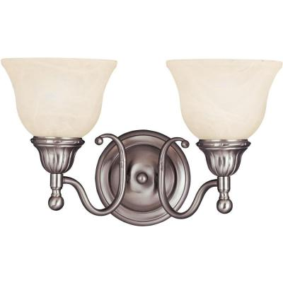 Soho 2-Light Satin Nickel Bath Vanity Light