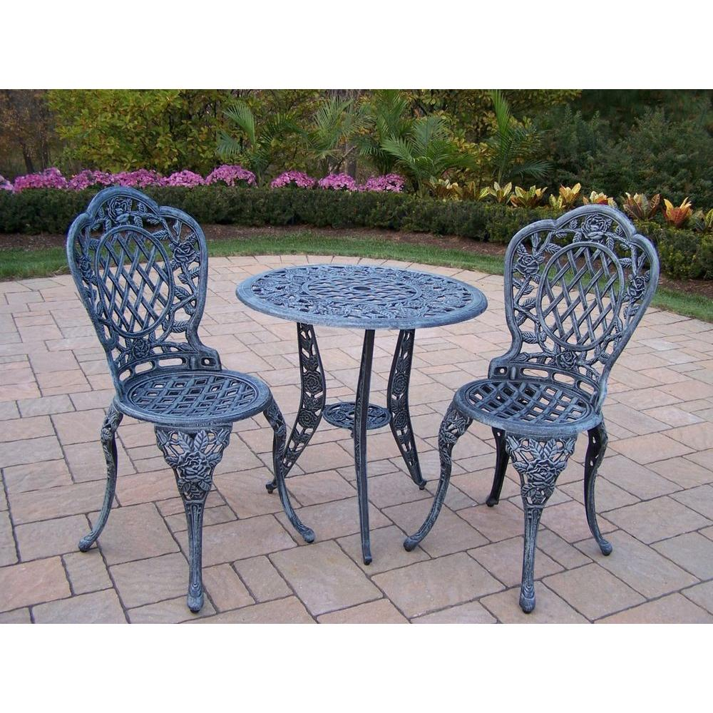Oakland Living Tea Rose 3-Piece Patio Bistro Set