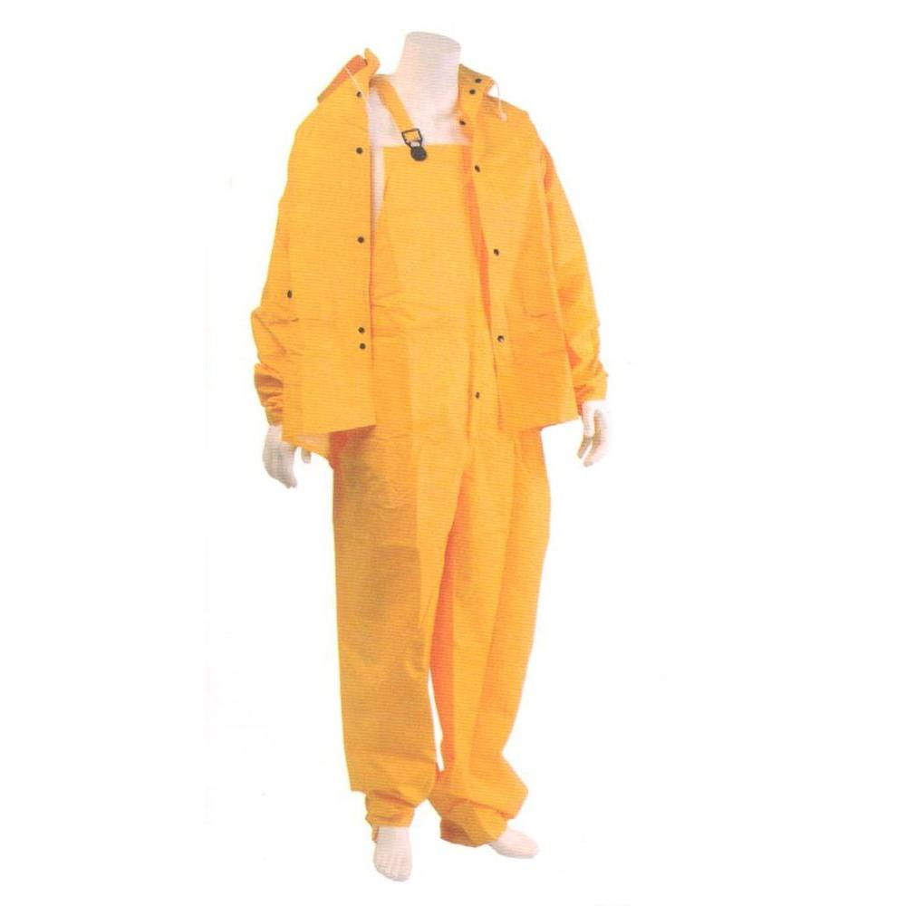 G & F 35 mm X-Large Heavy Weight PVC Over Polyester Rain Suit (3-Piece)