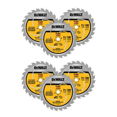 FLEXVOLT 7-1/4 in. 24-Teeth Carbide-Tipped Circular Saw Blade (6-Pack)