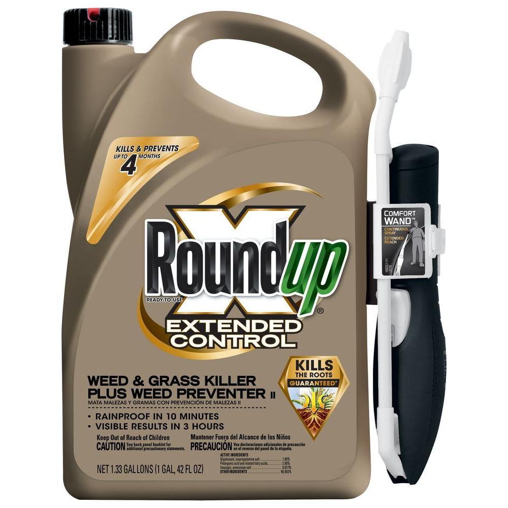 Roundup 1 33 Gal Ready To Use Extended Control Weed And Gr Plus