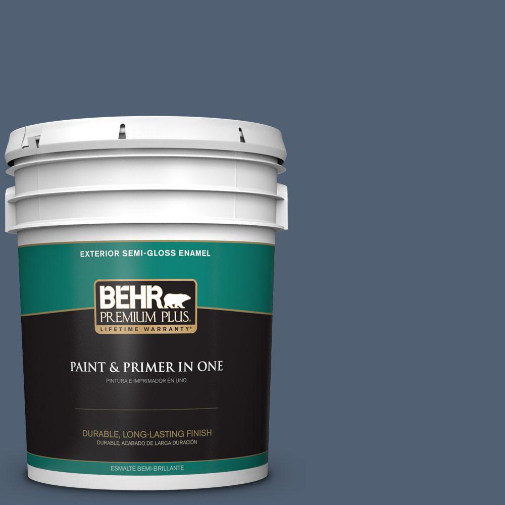 5 gal. #PPU14-19 English Channel Semi-Gloss Enamel Exterior Paint