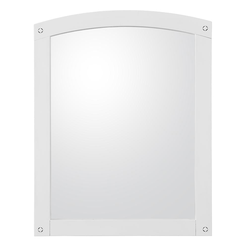 Avondale 24 in. x 30 in. Framed Wall Mirror in White